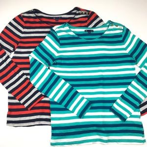 Gap Striped Shirts Tops Medium